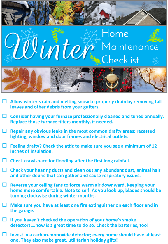 Home maintenace checklist