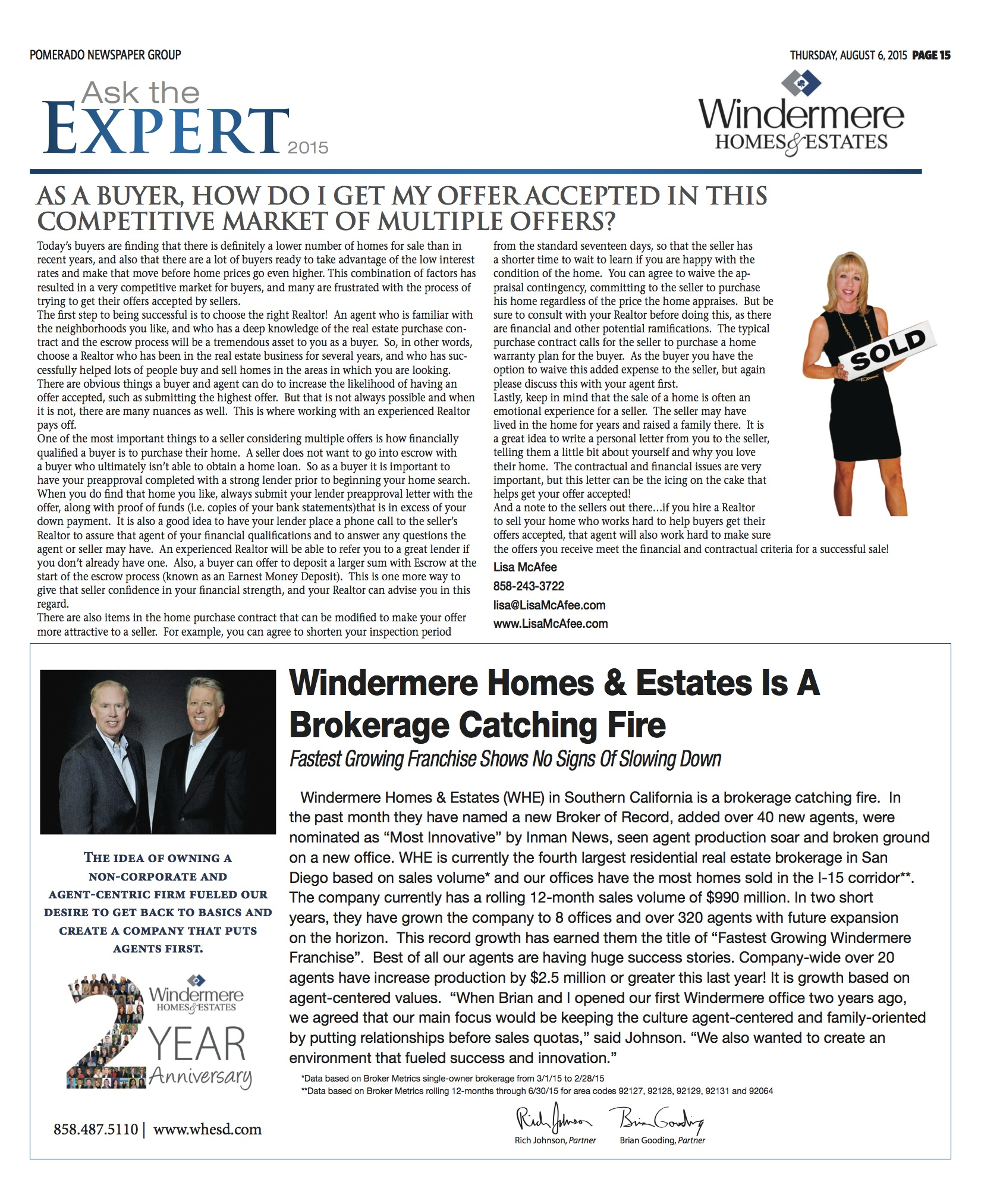 Lis McAfee Ask the Expert 08-06-15 0806_POM_pA15
