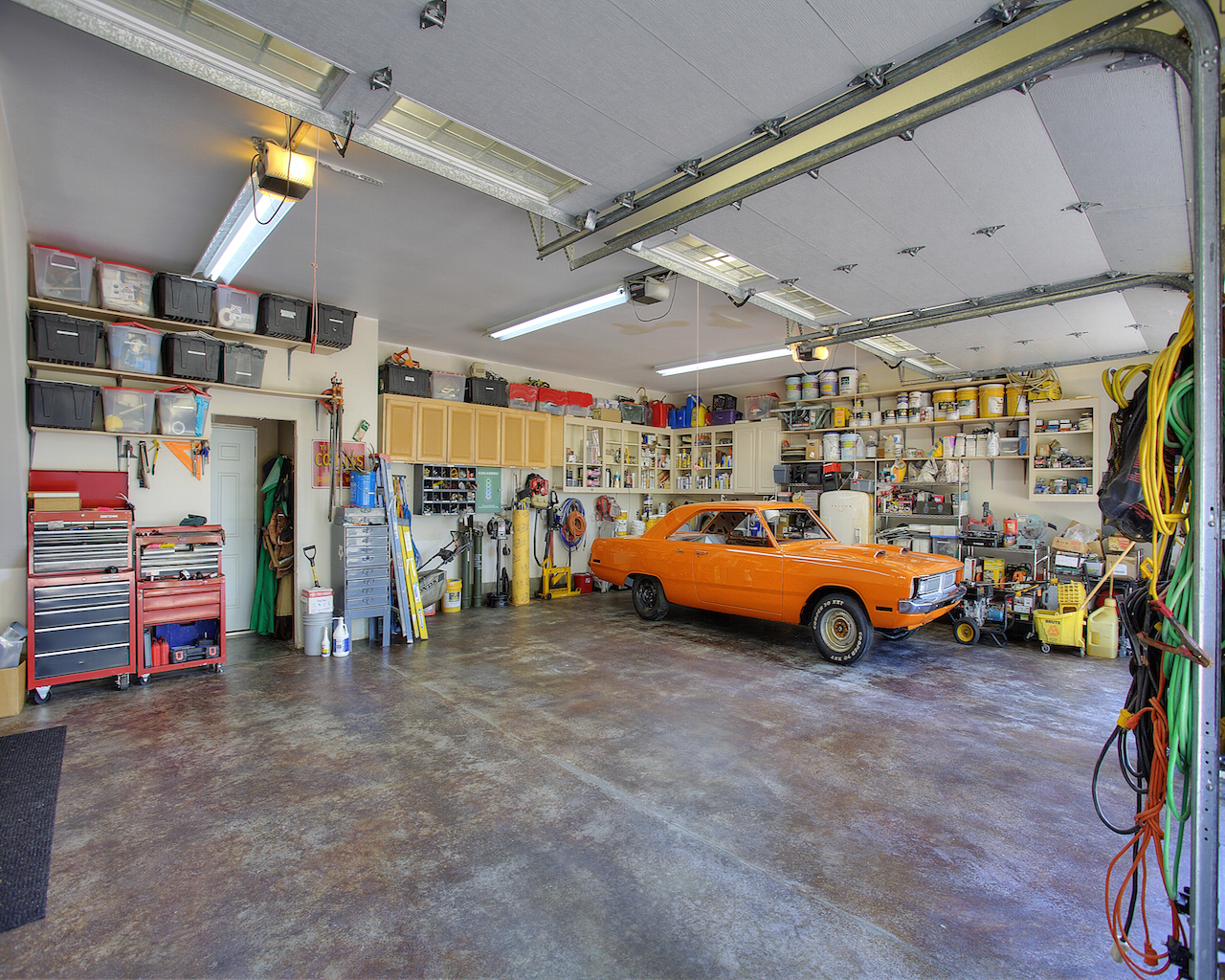 Image result for inside 3 car garage""
