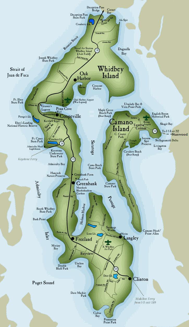 Whidbey Island Trail Maps
