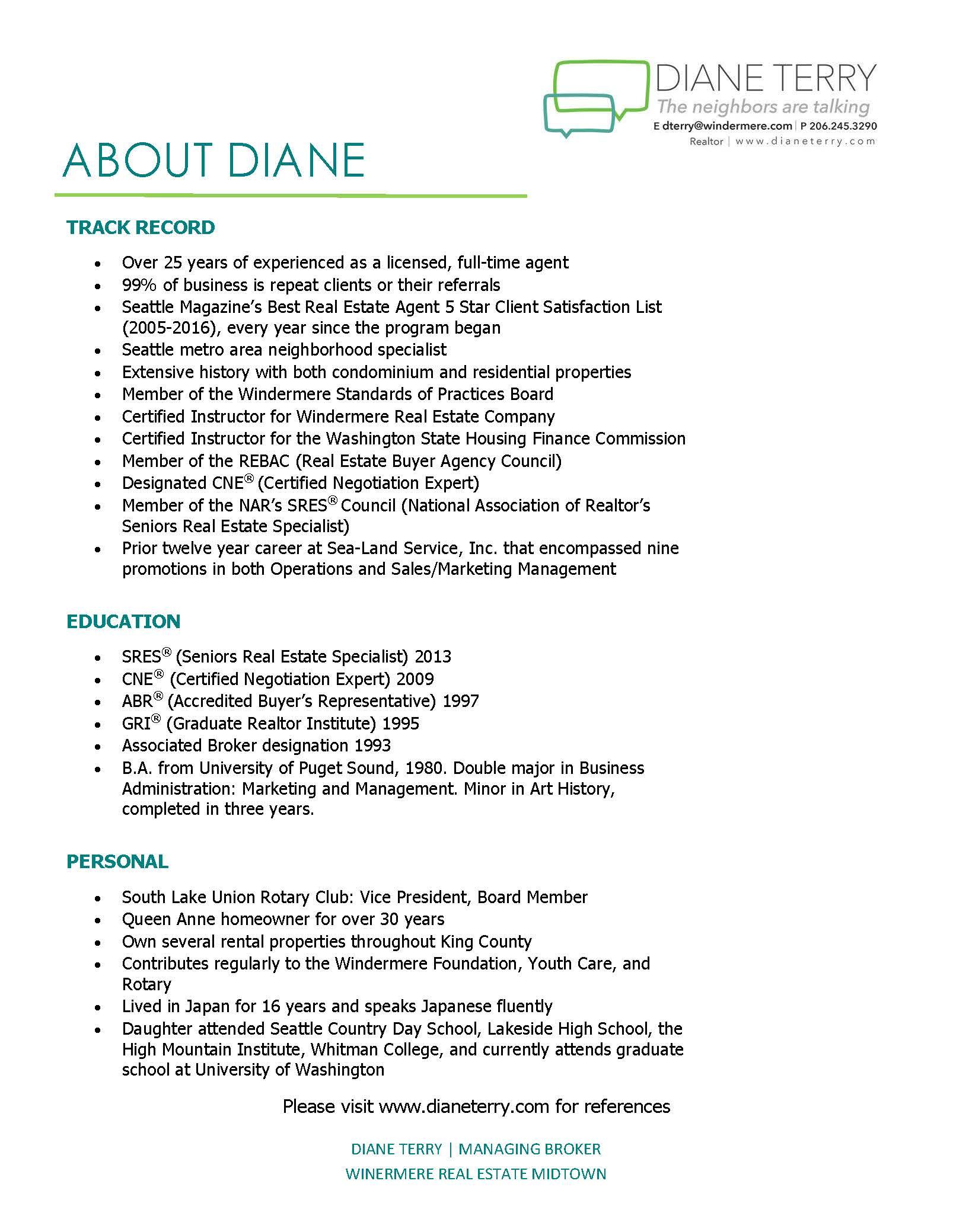 Diane Terry Resume